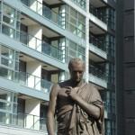 Statue in Elysian Fields courtyard
