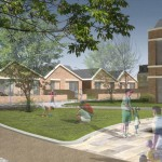 Extra Care bungalows and main wing.